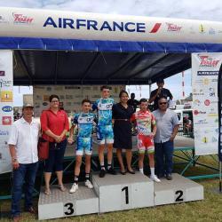 21/10 - Et. 8 : victoire de Ludovic Nadon et une 3ème place de Jérémy Barret !!.  Geoffrey Bouchard remporte le 48ème Tour Air France de Nouvelle-Calédonie