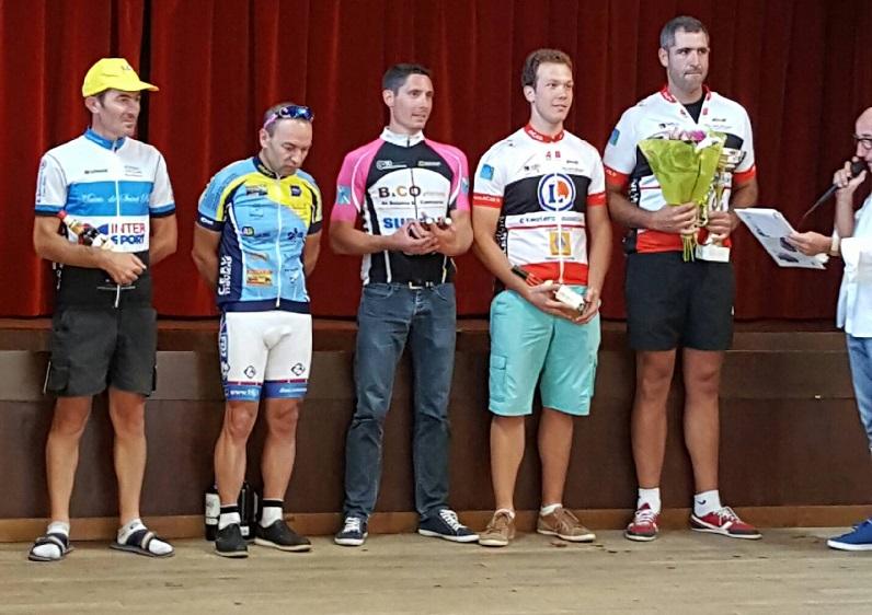 Le 25/09/16 ST MICHEL DE RIVIERE(24)  Victoire d'Adrien Berthomme (AC4B) en 2 ème  cat  ---- 3 ème Quentin Marcadier (AC4B) en 2 ème cat.
