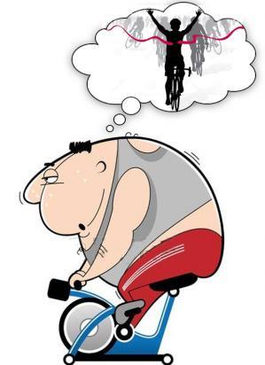 Gros velo victoire cycliste