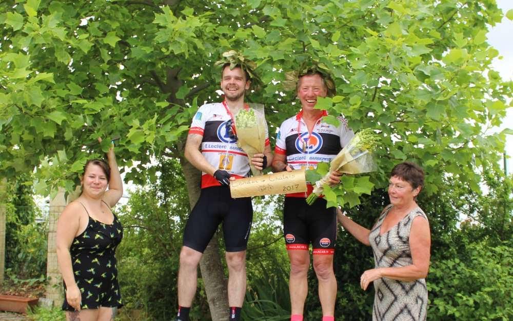 Vendredi 9 juin 2017 , Terry Evans (AC4B) il a entraîné dans sa roue son futur beau-fils Bradley O'Neill.New 29   Un cycliste amateur et son futur gendre unis dans l'effort.