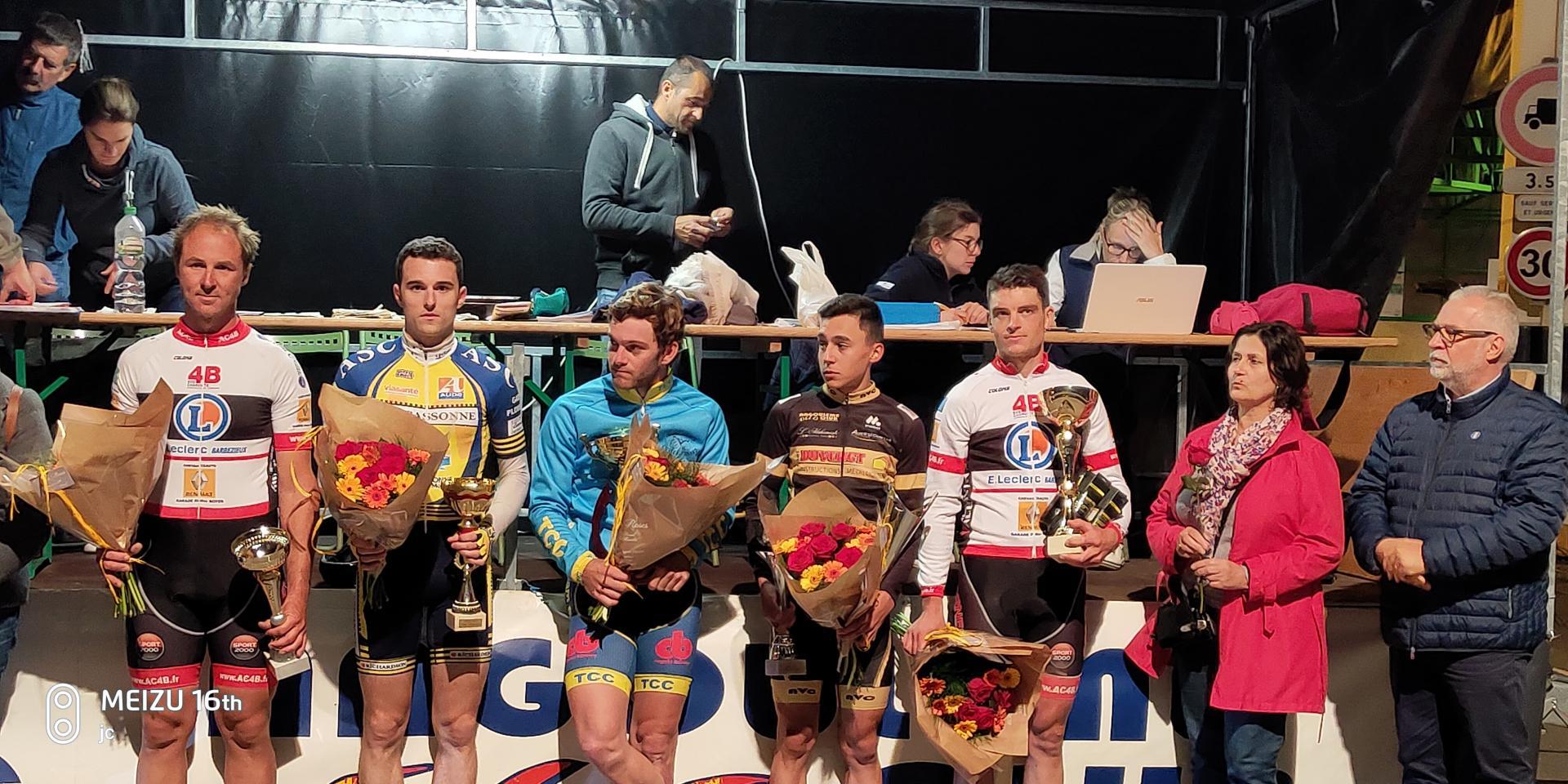 Le 12 juin 2019  L'ISLE D'ESPAGNAC - NOCTURNE (16) 1-2-3-J-PC OPEN Alexis Diligeart (TC Châteaubernard) a remporté, la 16e édition du Grand Prix de l'Isle d'Espagnac (16).   3 ème Ludovic Nadon et Meilleur sprinter ,  Alexandre Debeau 1 er PC
